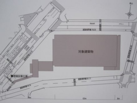 ブランズタワー中津(仮)敷地配置図 (480x360)